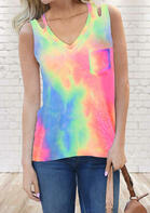 New Arrivals Tie Dye Hollow Out Tank