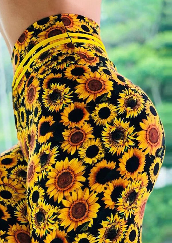 Activewear Sunflower Activewear Sports Leggings in Yellow. Size: S фото