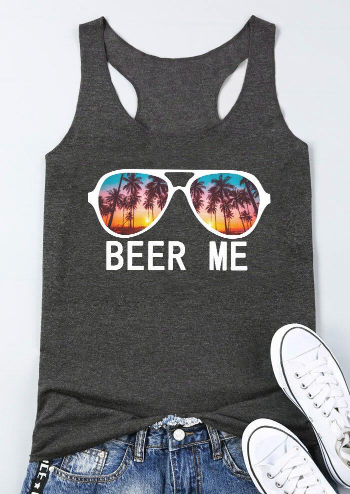 Beer Me Glasses Tank - Dark Grey фото