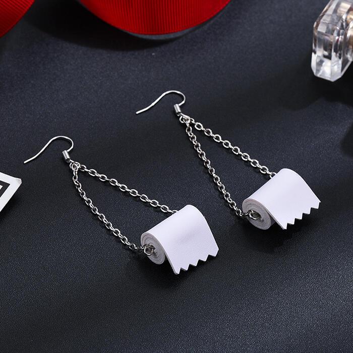 Earrings Creative Toilet Roll Paper Earrings. Size: One Size фото