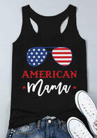 Summer Outfits American Mama Star Glasses Tank