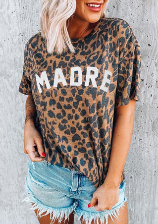 Presale - Leopard Printed Madre T-Shirt Tee without Necklace