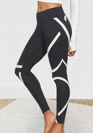 Printed Yoga Fitness Activewear Leggings - Dark Gray