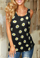 Summer Outfits Casual Daisy O-Neck Tank
