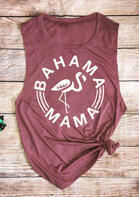 Fashionable Summer Outfits Bahama Mama Flamingo Tank - Cameo Brown