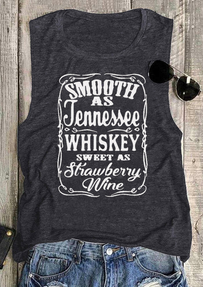 Smooth As Tennessee Whiskey Sweet As Strawberry Wine Tank - Light Grey