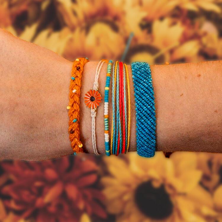 5Pcs Sunflower Beads Braided Bracelet фото