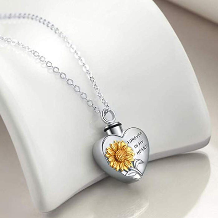 Fairyseason coupon: Sunflower Forever In My Heart Necklace