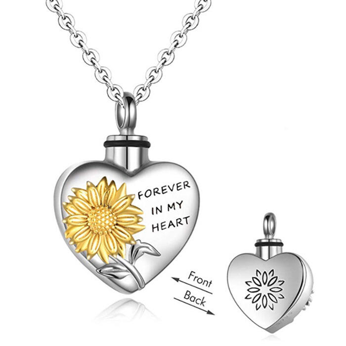 Sunflower Forever In My Heart Necklace
