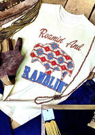 Summer Outfits Women Roamin' And Ramblin Aztec Geometric T-Shirt Tee
