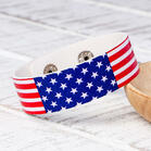 Fashion American Flag Leather Bracelet