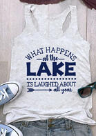 Summer Outfits Women What Happens At The Lake Tank - Gray