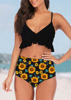 Sunflower Ruffled Bikini Set
