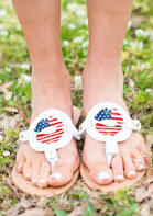 American Flag Lip Flat Flip Flop Slippers