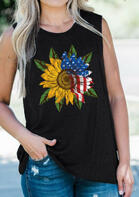 Sunflower American Flag Tank