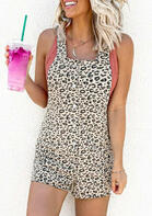 Leopard Button Romper