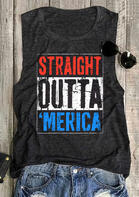 Summer Outfits Straight Outta 'Merica Tank