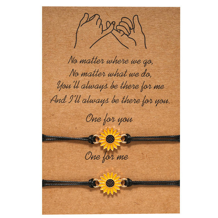 Adjustable Sunflower Braid Alloy Bracelet фото
