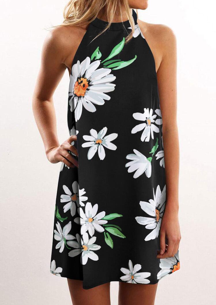 Mini Dresses Daisy Open Back Sleeveless Mini Dress - Black. Size: S,M,L,XL фото