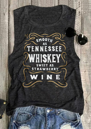 Smooth As Tennessee Whiskey Tank - Dark Grey