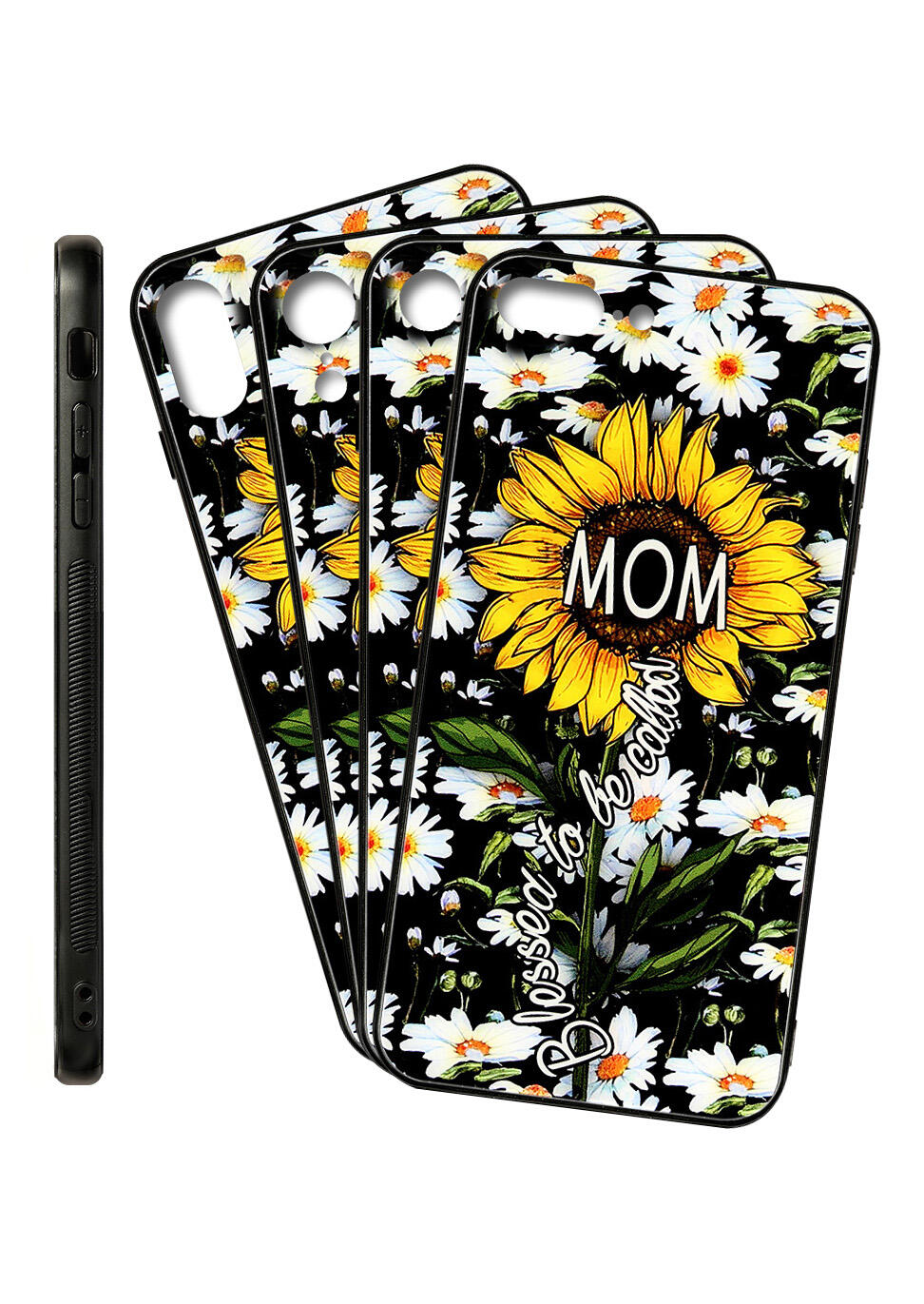 Sunflower Blessed To Be Called Mom Iphone XR / Iphone XS Max / Iphone 8 / Iphone 8 Silicone Protective Phone Case фото