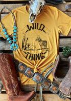 Wild Thing Wolf Cactus T-Shirt Tee