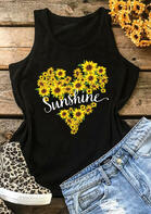 Summer Outfits Women Sunflower Sunshine Tank