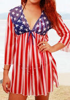 Summer Outfits American Flag Star Beach Cover Up