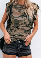 Camouflage Pocket Blouse