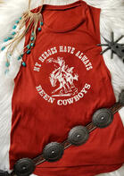 Summer Outfits My Heroes Have Always Been Cowboys Tank