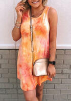 Summer Clothes Tie Dye Mini Dress