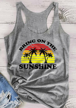 Bring On The Sunshine Tank - Gray