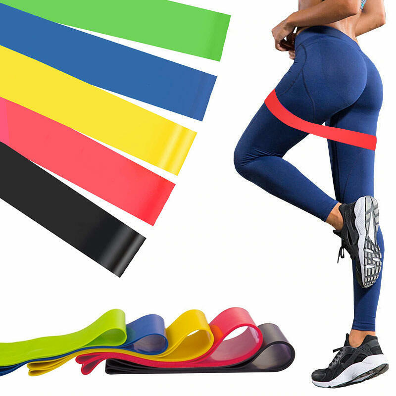5 Pieces/Set Fitness Yoga Resistance Loop Exercise Bands фото