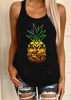 Gradient Color Pineapple Flamingo Tank