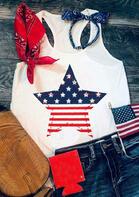 American Flag Star Striped Tank