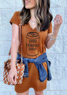 Summer Outfits Beer Drinkin' Babe Mini Dress
