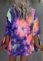 Summer Outfits Tie Dye Three Quarter Sleeve Cardigan