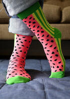 Cute Watermelon Striped Socks