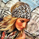 Leopard Ruffled Yoga Wide Headband