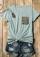 Leopard Pocket T-Shirt Tee