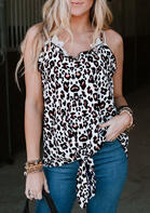 Summer Outfits Leopard Ruffled Camisole