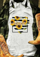 Summer Outfits Sunflower Mama Heart Tank
