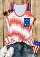 American Flag Star Pocket Tank