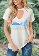 Summer Outfits Hollow Out Desert Vibes Blouse