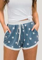 Star Drawstring Shorts