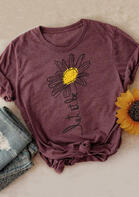 Let It Be Sunflower T-Shirt Tee