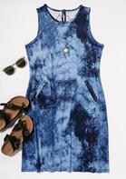 Tie Dye Pocket Mini Dress