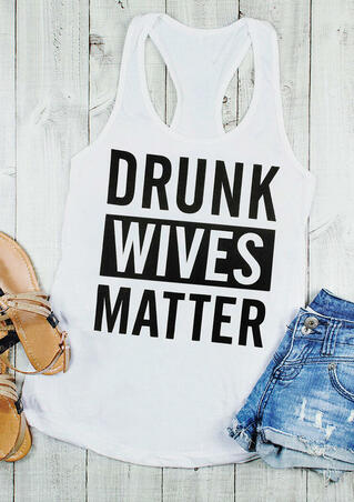 Drunk Wives Matter Tank - White