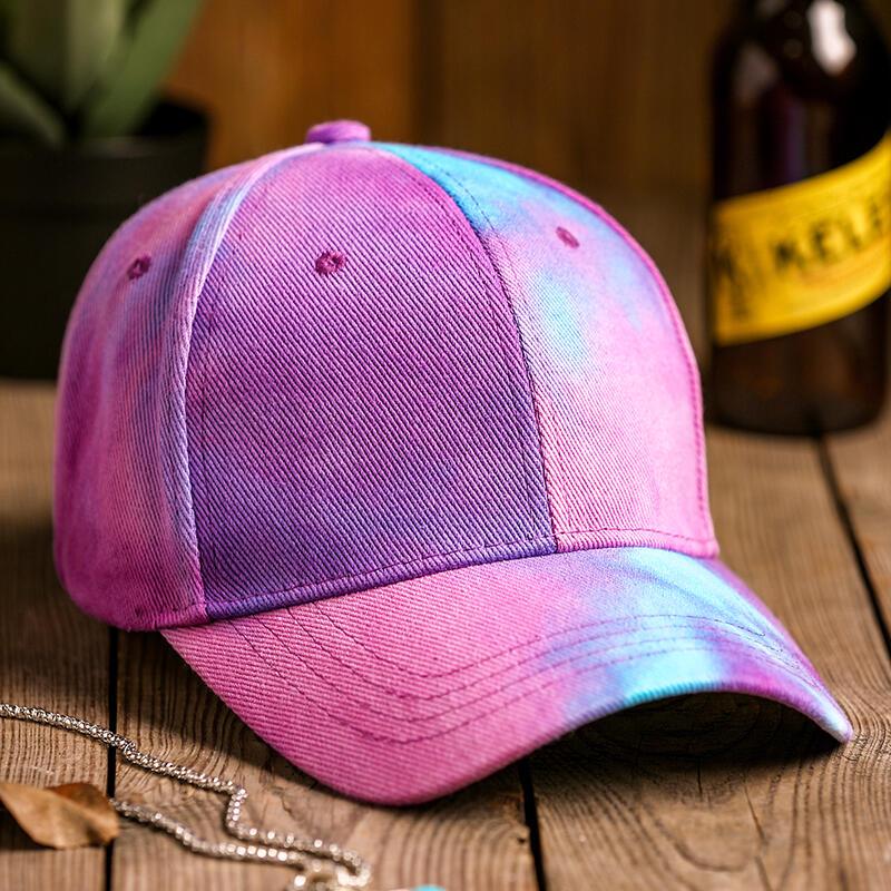 Tie Dye Baseball Cap - Purple фото