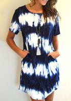 Gradient Pocket Mini Dress